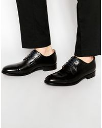 PS by Paul Smith | Black Ernest Toe Cap Derby Shoes for Men | Lyst