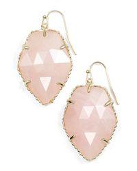 Kendra Scott | Pink 'corley' Faceted Stone Drop Earrings | Lyst