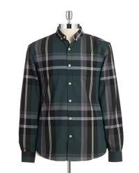 7 Diamonds | Green Plaid Sportshirt for Men | Lyst