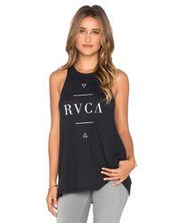RVCA - Black Minimalistic Graphic Tank - Lyst
