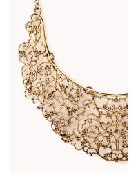 Forever 21 - Metallic Antiqued Cutout Filigree Necklace - Lyst