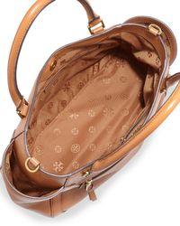 Tory Burch - Brown Frances Leather Satchel Bag - Lyst
