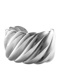 David Yurman | Metallic Sculpted Cable Wide Cuff | Lyst