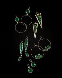Lana Jewelry - Ultra Envy 14K Gold Green Onyx Spike Earrings - Lyst