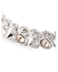 Alexander McQueen | Gray Double Skull Bracelet | Lyst