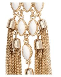 H&M - Metallic Long Earrings - Lyst