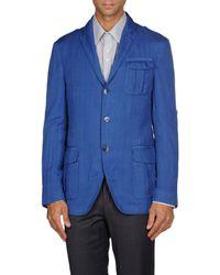 Etro - Blue Blazer for Men - Lyst