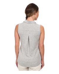 Adidas Originals | Gray Climalite Essentials Heather Sleevelees Polo '15 | Lyst