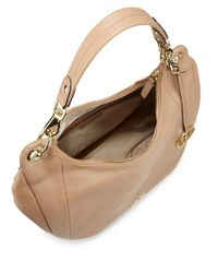 Calvin Klein | Brown Pebbled Leather Saddle Bag | Lyst