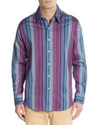 Robert Graham | Multicolor Tailored-fit Reservoir Striped Cotton Sportshirt for Men | Lyst