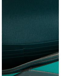 Fendi - Blue Bicolour Clutch - Lyst