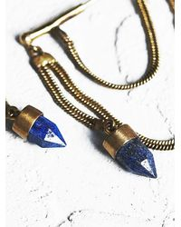 Free People | Blue Mckenna Chain Hoop Earring | Lyst