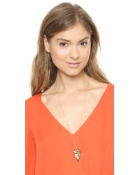 House of Harlow 1960 - Metallic Tribal Tooth Pendant Necklace Gold - Lyst