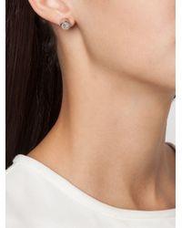 Eddie Borgo - Metallic Triangle Embellishment Round Earrings - Lyst