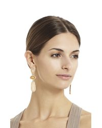BCBGMAXAZRIA - Natural Stone Statement Earrings - Lyst