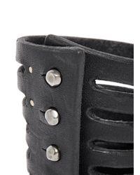 Rick Owens - Black Half Megga Naked Leather Cuff - Lyst