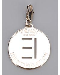 Fendi - Metallic 'E' Identity Pendant - Lyst