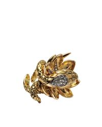 Roberto Cavalli | Metallic Serpent Et Scorpion Ring | Lyst