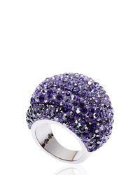 Swarovski | Purple Silver-Tone & Amethyst Ring Size 6 | Lyst