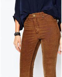 Blank - Brown 70s Corduroy Skinny Trousers - Lyst