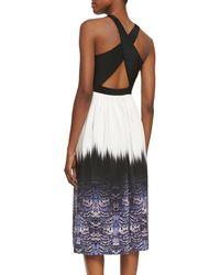 Tibi - Multicolor Ibis-bordered Cross-back Dress Indmu 0 - Lyst