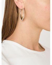 Irene Neuwirth   Metallic Pearl Studded Hoop Earrings   Lyst