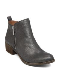 Lucky Brand | Metallic Basel Zip Up Booties | Lyst
