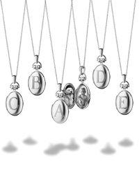 Monica Rich Kosann - Metallic Petite Sterling Silver Initial Locket Necklace - Lyst