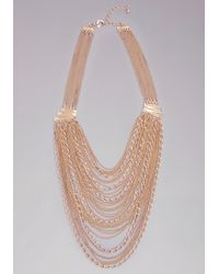 Bebe | Metallic Layered Chain Necklace | Lyst