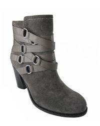 Adrienne Vittadini - Gray Maya Suede Boots - Lyst