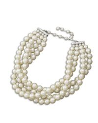Kenneth Jay Lane | White Pearl Choker Necklace | Lyst