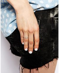 Dogeared - Metallic Exclusive For Asos Sterling Silver Make A Wish Unicorn Ring - Lyst