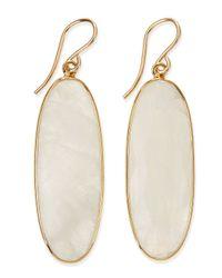 Devon Leigh - Metallic Oval Moonstone Earrings - Lyst