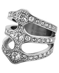 Dyrberg/Kern | Metallic Dyrberg/kern Robina Silver Plated Swarovski Crystal Statement Triple Ring | Lyst