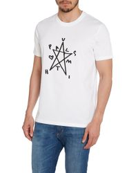 Paul Smith | White Star Graphic T-shirt for Men | Lyst
