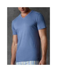 Ralph Lauren - Blue Slim-Fit V-Neck Three-Pack for Men - Lyst