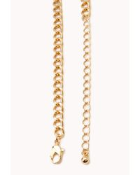 Forever 21 - Metallic Statement Faux Stone Bib Necklace - Lyst