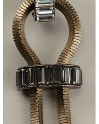 Lanvin - Metallic Embellished Earrings - Lyst