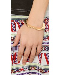 Giles & Brother | Metallic Skinny Hex Cuff Bracelet - Gold | Lyst