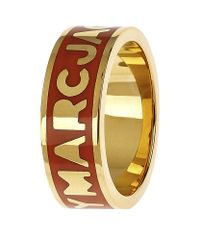 Marc By Marc Jacobs | Red Classic Logo Ring | Lyst