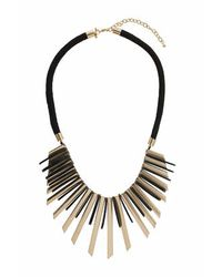 TOPSHOP | Black Statement Metal Fan Collar | Lyst