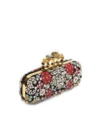 Alexander McQueen - Black Brooch Embroidered Knuckle Box Clutch - Lyst