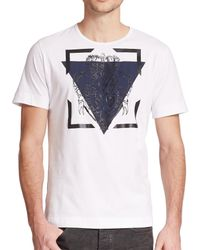 Diesel Black Gold | White Military Crest & Triangle Print Cotton Tee for Men | Lyst