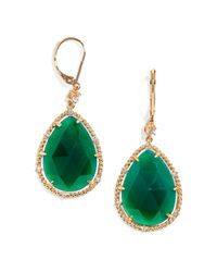 BaubleBar - Green Emerald Tear Drops - Lyst