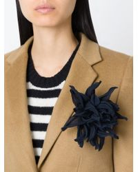 Erika Cavallini Semi Couture   Black Chrysanthemum Flower Brooch   Lyst
