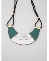 Marni | Green Contrasting Panel Necklace | Lyst