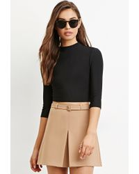 Forever 21   Black Cutout-back Crop Top   Lyst