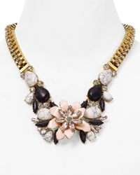 "kate spade new york - Multicolor Glossy Petals Statement Necklace, 28"" - Lyst"