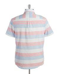 Original Penguin | Blue Striped Sportshirt for Men | Lyst