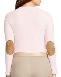 Lauren by Ralph Lauren - Pink Plus Cotton Crewneck Shirt - Lyst